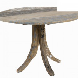 Table Ronde en Bois Decape (D.120Xh.78cm) MILA
