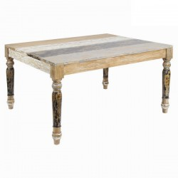 Table A Manger 6 Pers en Bois Decape (L.160Xl.90Xh.77cm) MILA