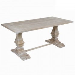 Table A Manger 6 Pers en Bois Blanc HARMONY