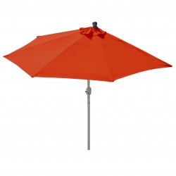 DEMI PARASOL SANS SUPPORT ALMERRA - TISSU ORANGE L.260CM