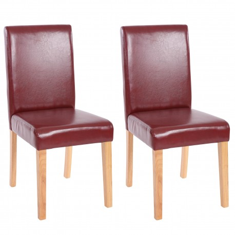 CHAISE MELVILLE X2 - CUIR SYNTHÉTIQUE COGNAC PIEDS CLAIRS