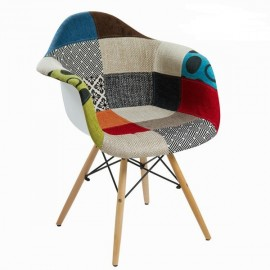 Chaise Mac imprimé patchwork