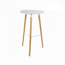Table haute Scandi blanche