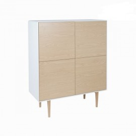 Buffet Cure marron et blanc 4 portes