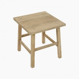 Table d'appoint carrée en bois