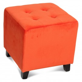 Pouf carré orange
