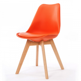 Chaise Scandinave Orange ASTA x2