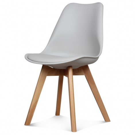 Chaise Scandinave Taupe ASTA x2