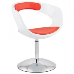 Fauteuil OMAHA BLANC / ROUGE