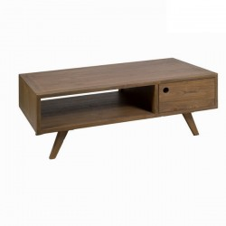 Table Basse 2 Tiroirs en Bois (L.120Xp.60Xh.45cm) MEGAN