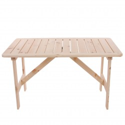 TABLE DE JARDIN 4 PLACES OSWALD - BOIS NATUREL L.130CM