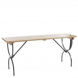 TABLE DE JARDIN PLIANT 8 PLACES SCHUL - NATUREL