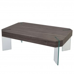 TABLE BASSE CHENE FONCE COLE - BOIS MARRON