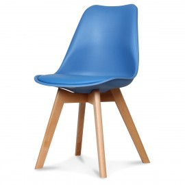 Chaise Scandinave Bleu midnight ASTA x2